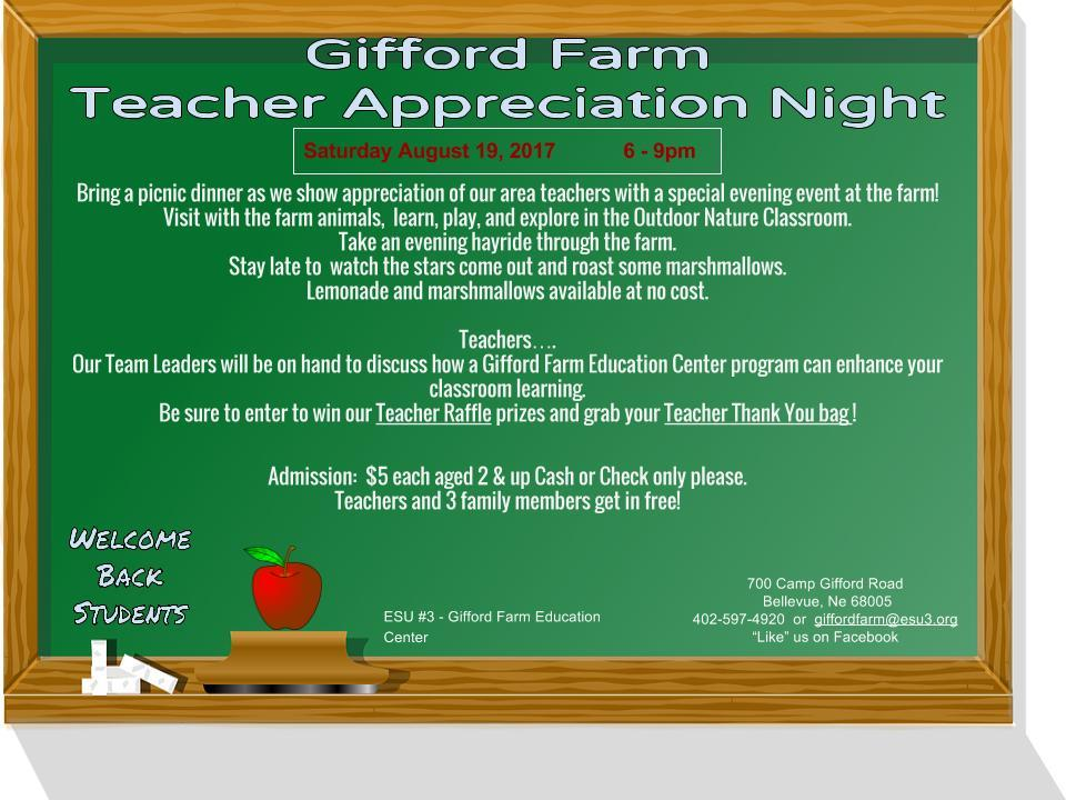 2017 Teacher Appreciation Facebook Flyer 1