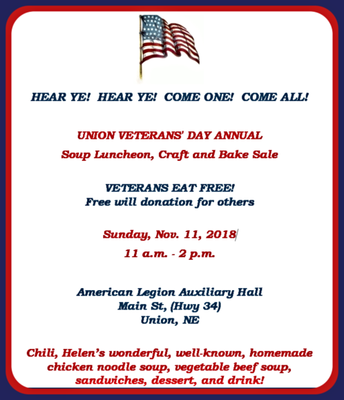 2018 10 31 UNION Vets lunch 1