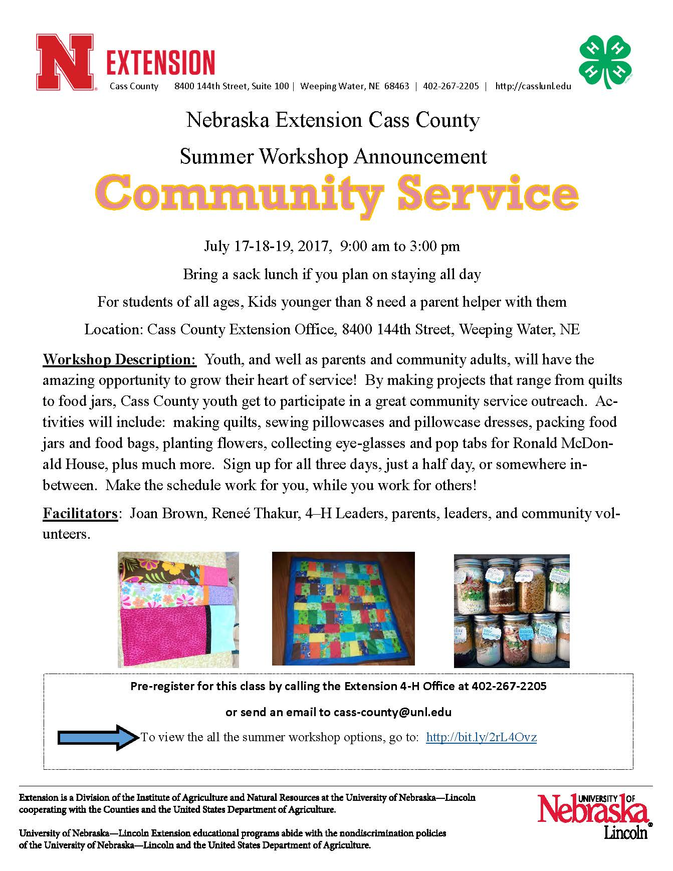 21 Community Service Workshop