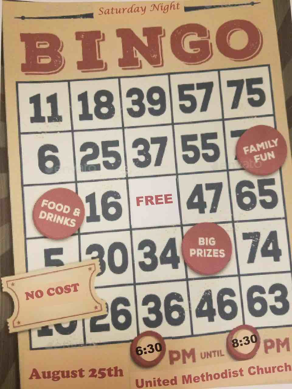 Bingo Night August