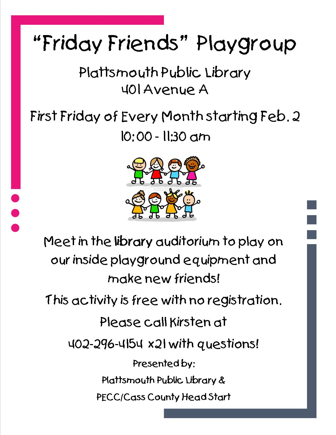 Friday Friends Playgroup Poster