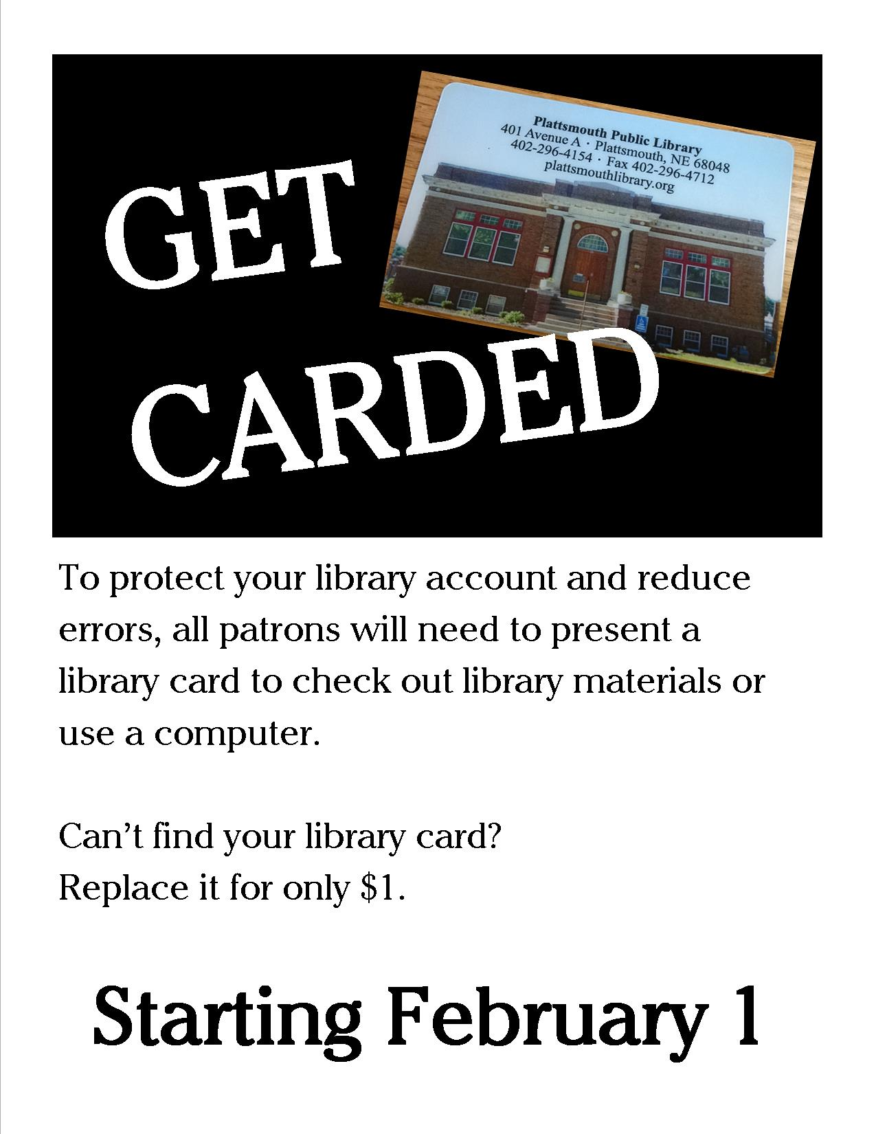 Get Carded Library card