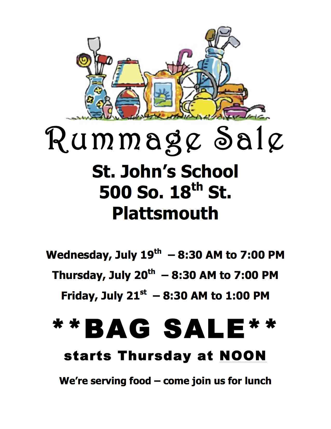 July Rummage Sale