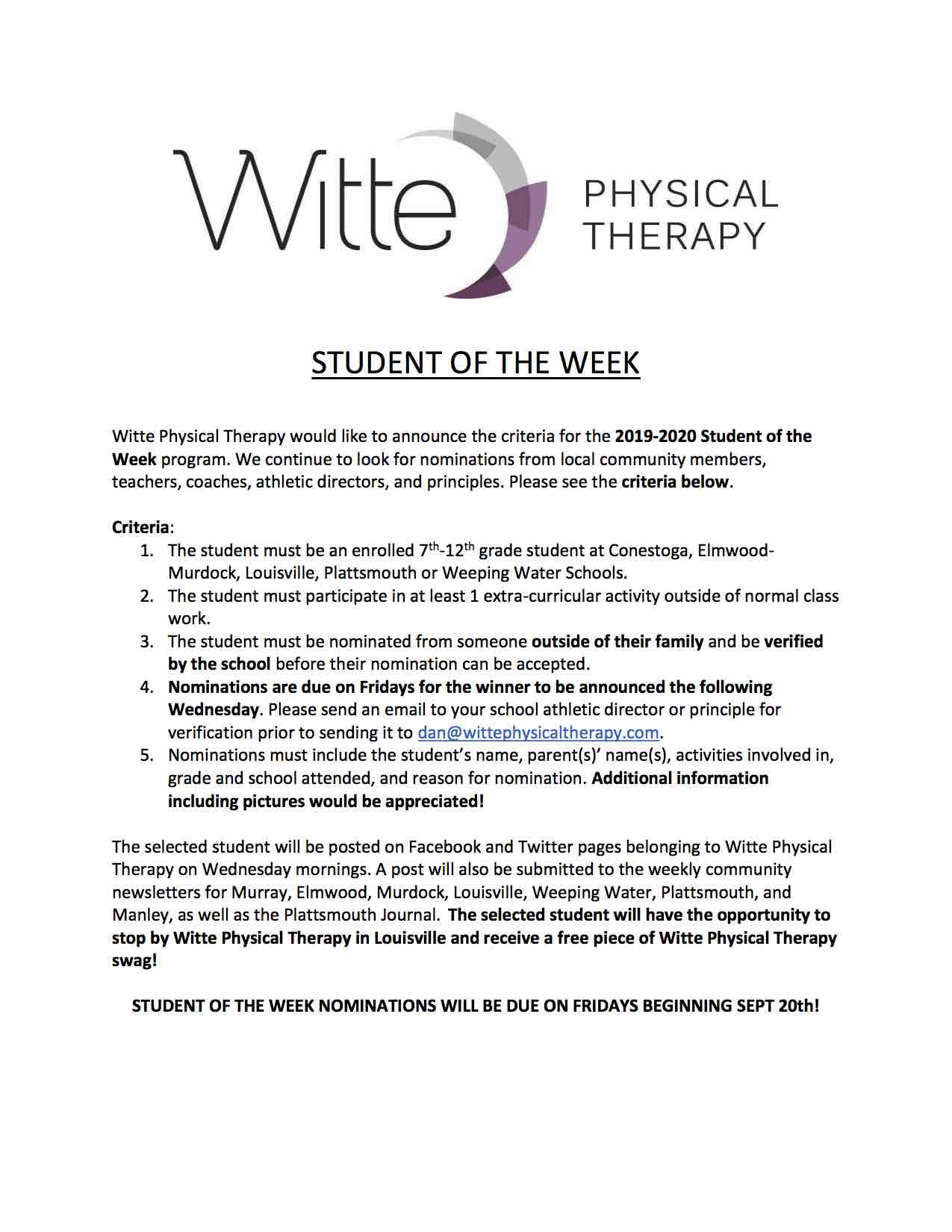 Student of the Week 7