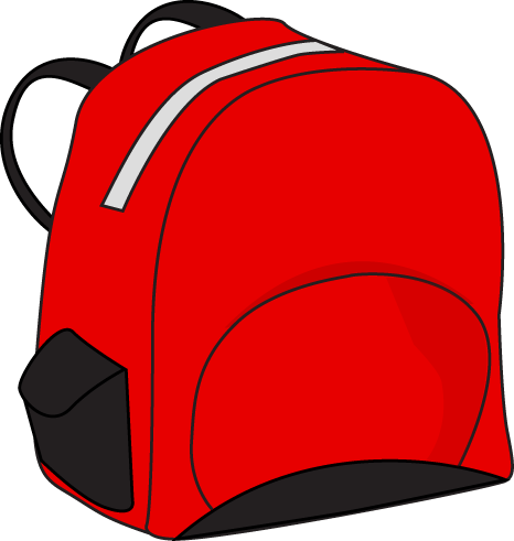 backpack clipart red backpack