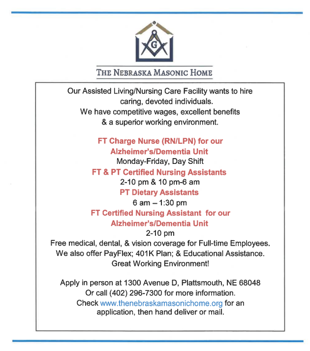 Masonic help wanted